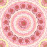 Floral mandala drawing sacred circle Royalty Free Stock Photography