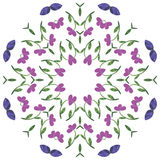 Floral mandala. Ethnic decorative elements. Hand-drawn Royalty Free Stock Image