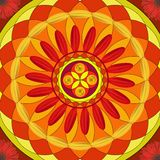 Floral mandala, geometric drawing - sacred circle royalty free stock photos