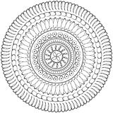 Floral mandala, geometric drawing - sacred circle Stock Photography