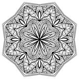 Floral mandala with intricate pattern Royalty Free Stock Images