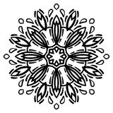 Floral mandala isolated on white background. Gorgeous floral decorative design element. Vector Stock Photo