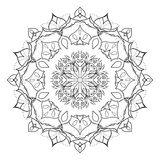 Floral mandala isolated on white background. Gorgeous handdrawn decorative design element. Vector Royalty Free Stock Photos