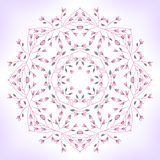 Floral mandala Stock Photography