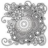 Floral Mandala Pattern Royalty Free Stock Photos