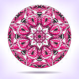 Floral mandala in pink tones. Stock Photography