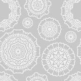 Floral mandala seamless pattern Royalty Free Stock Photos