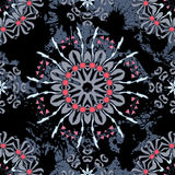 Floral mandala seamless pattern. Royalty Free Stock Photos