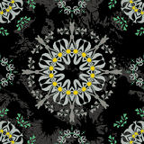 Floral mandala seamless pattern. Stock Images
