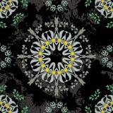 Floral mandala seamless pattern. Stock Images