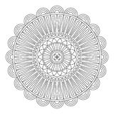 Floral mandala, vector illustration Stock Photography