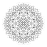 Floral mandala, vector illustration Royalty Free Stock Image