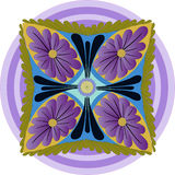 FLORAL MANDALA VIOLETA Stock Photos