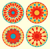 Floral mandalas Stock Photos