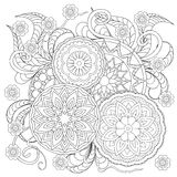 Floral mandalas Royalty Free Stock Images