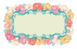 Floral - marco del hibisco Fotografía de archivo libre de regalías