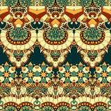 Floral mechanism seamless vector illustration