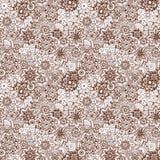 Floral mehendi hand drawn seamless pattern. Stock Images