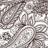 Floral mehendi pattern ornament vector illustration hand drawn henna mhendi pattern india tribal paisley background Royalty Free Stock Image
