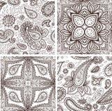 Floral mehendi pattern ornament vector illustration hand drawn henna mhendi pattern india tribal paisley background Royalty Free Stock Photos