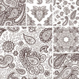 Floral mehendi pattern ornament vector illustration hand drawn henna mhendi pattern india tribal paisley background Royalty Free Stock Photo