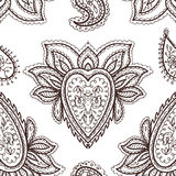 Floral mehendi pattern ornament vector illustration hand drawn henna mhendi pattern india tribal paisley background Stock Photo