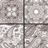 Floral mehendi pattern ornament vector illustration hand drawn henna mhendi pattern india tribal paisley background Royalty Free Stock Photography
