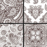 Floral mehendi pattern ornament vector illustration hand drawn henna mhendi pattern india tribal paisley background Royalty Free Stock Images