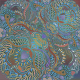 Floral menu background, oriental motif Royalty Free Stock Photo
