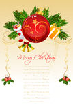 Floral merry christmas card Stock Image