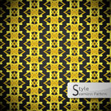 Floral mesh Gold vintage geometric seamless pattern vector illus Stock Photos