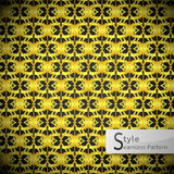 Floral mesh loop Gold vintage geometric seamless pattern vector Royalty Free Stock Images