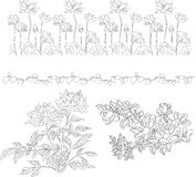 Floral modern background III Stock Image