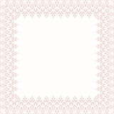 Floral Modern Frame. Oriental abstract frame with arabesques and floral pink elements. Fine greeting card Royalty Free Stock Photography