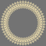 Floral Modern Round Frame Stock Images