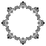 Floral Modern Round Frame Royalty Free Stock Photography