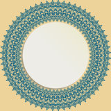 Floral Modern Vector Round Frame Stock Images