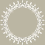 Floral Modern Vector Round Frame Royalty Free Stock Images