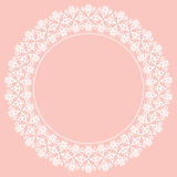 Floral Modern Vector Round Frame. Oriental vector round frame with arabesques and floral elements. Floral fine white border. Greeting card with place for text Royalty Free Stock Image