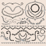 Floral Monochrome Design Laurels, Wreaths, Frame Stock Photo