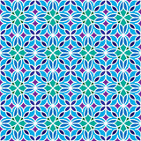 Floral Moroccan Mosaic Pattern. Colorful floral mosaic background in Moroccan style. Vector seamless repeating pattern Royalty Free Stock Image