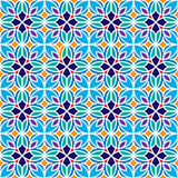 Floral Moroccan Mosaic Pattern. Colorful floral mosaic background in Moroccan style. Vector seamless repeating pattern Stock Photo