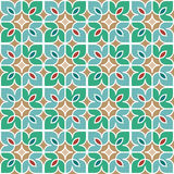 Floral Moroccan Mosaic Pattern. Colorful floral mosaic background in Moroccan style. Vector seamless repeating pattern Stock Images