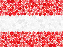 Floral mosaic Austrian flag Royalty Free Stock Images