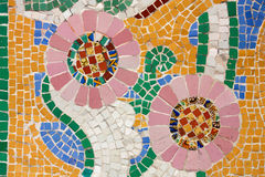 Floral mosaic.  THE CATALANA MUSIC HALL Stock Images