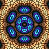 Floral mosaic kaleidoscope Stock Images