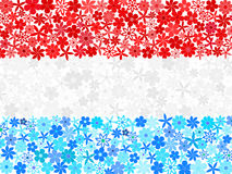 Floral mosaic Luxembourg flag Stock Photography