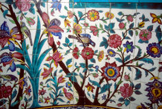 Floral mosaic on Madrese-e Khan Stock Photo