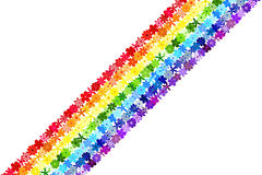 Floral mosaic rainbow background. Rainbow background consisting of colourful flowers. Vector creative concept Royalty Free Stock Photo