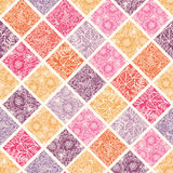 Floral mosaic tiles seamless pattern background Stock Photography